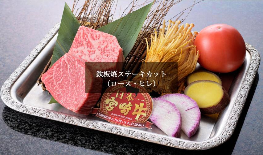 鉄板焼ステーキカット(ロース・ヒレ)
